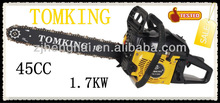 2013 TK-5100 1.7KW high quality gasoline chainsaw of saw for cutting