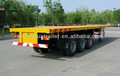 40 feet 3 axle flatbed semi trailer container transporter