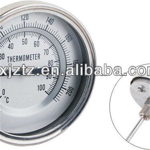 75mm Back All Stainless Steel Reset Bimetal Thermometer
