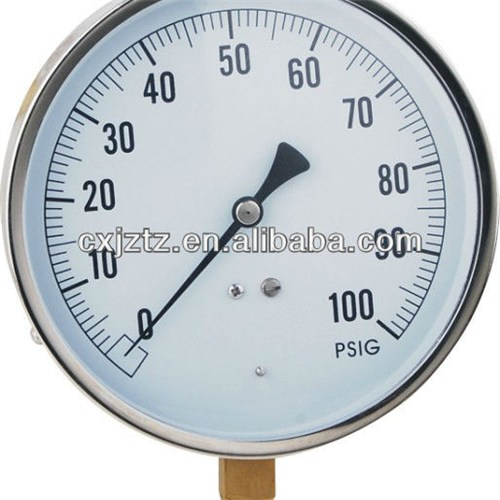 "113mm(4.5"") Process Pressure Gauge Stainless Steel Case Brass Internal"