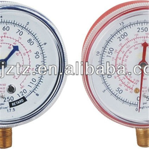 63mm Screw Window Blue /Red Steel Case Freon Manometer