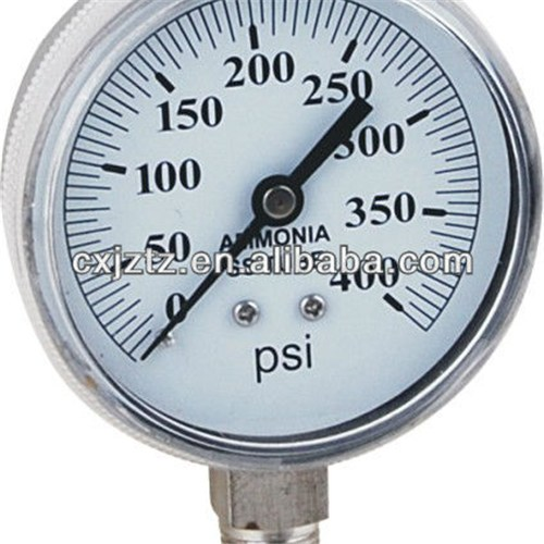 70mm All St.St. Bottom Screw Window Ammonia Manometer In St.St. Bezel