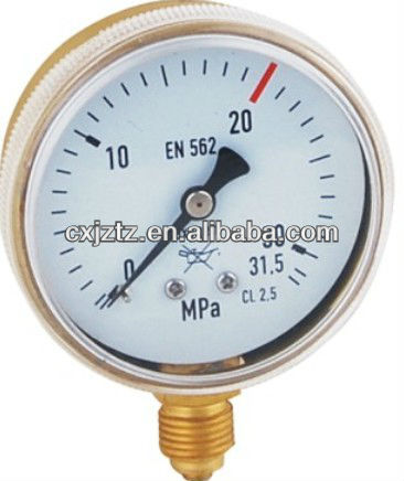 "2.0"" 50mm Oxygen Pressure Gauge In Snap On Plastic Window"