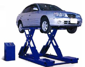 DOUBLE -LEVEL PLATFORM SCISSOR LIFT USED FOR ALIGNMENT