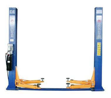 TWO POST FLOOR PLATE HYDRAULIC LIFT